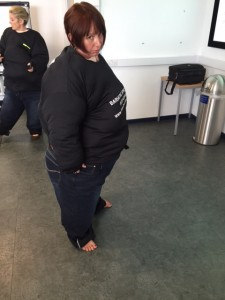 Trying an obesity suit for Christina Duckett, University of Reading